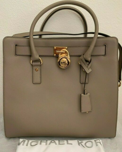 d8ede5a5f5cb Pre-Owned MICHAEL KORS Hamilton Large Saffiano Leather Tote Bag $358 Dark  Taupe