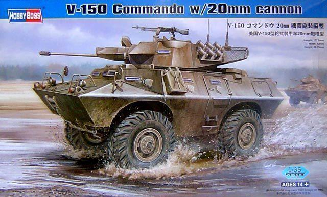 Hobby Boss V-150 Commando Armored Car Vehicle Tank 82420 1 35 Scale Model DIY