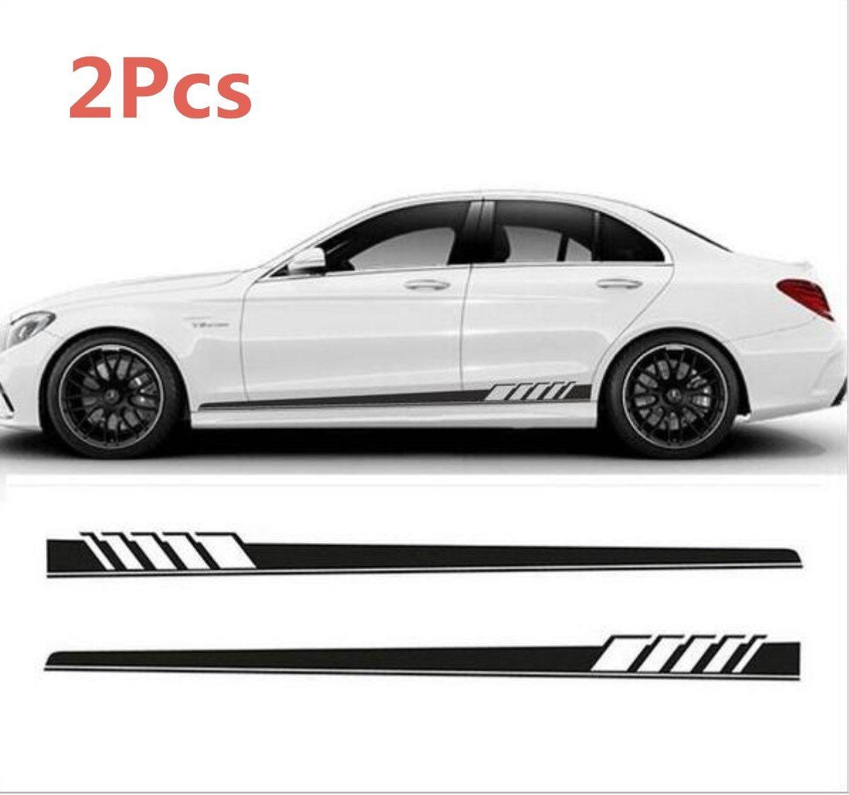 2pcs car side body vinyl decal sticker sports racing race car long stripe decals 2 2 of 5