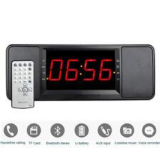 5W Digital Bluetooth Speaker FM Radio Alarm Clock mp3 Player +Remote Control AS