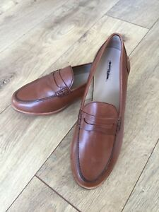 2c5f5a7b958 New JCrew Ryan penny loafers Leather shoes 9 burnished pecan brown ...