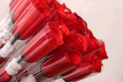 One Rose Hot Single Simulation Red Rose Love Cartoon Bear