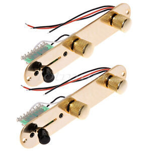 2 x tele wiring harness,250k pots,gold plate, knobs,switch telecaster wiring 3-way image is loading 2 x tele wiring harness 250k pots gold