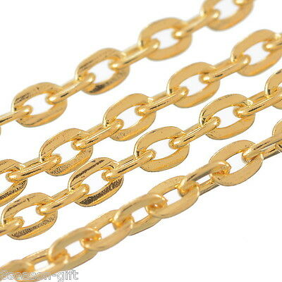 10M Gold Plated Link Chain Findings 3x2.5mm