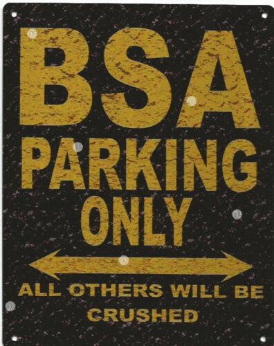 BSA PARKING METAL SIGN RUSTIC VINTAGE STYLE 6x8in 20x15cm garage