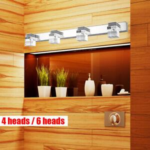 LED Light Crystal Mirror Light 4/6 Lights Bathroom Fixture ...