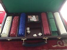 Vintage Old Fashioned Poker Chip Set Case