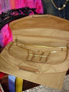 8639f87eb228 RARE Vintage GUCCI GARMENT BAG Hangers TOTE Luggage Travel Suitcase ...
