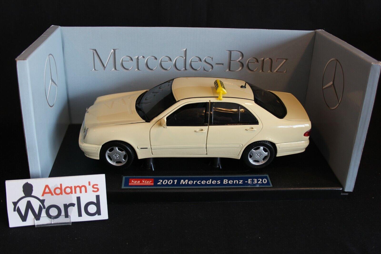 Sun Estrella Mercedes-Benz E320 1 18 Taxi New York, amarillo (JMR)