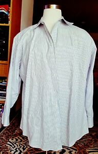 JOSEPH-amp-FEISS-NON-IRON-SLIM-FIT-Mens-Shirt-Size-19-34-35-100-Cotton