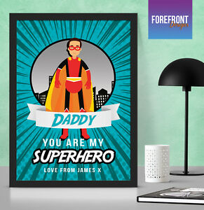 Image Is Loading Personalised FATHER 039 S DAY SUPERHERO Present Birthday