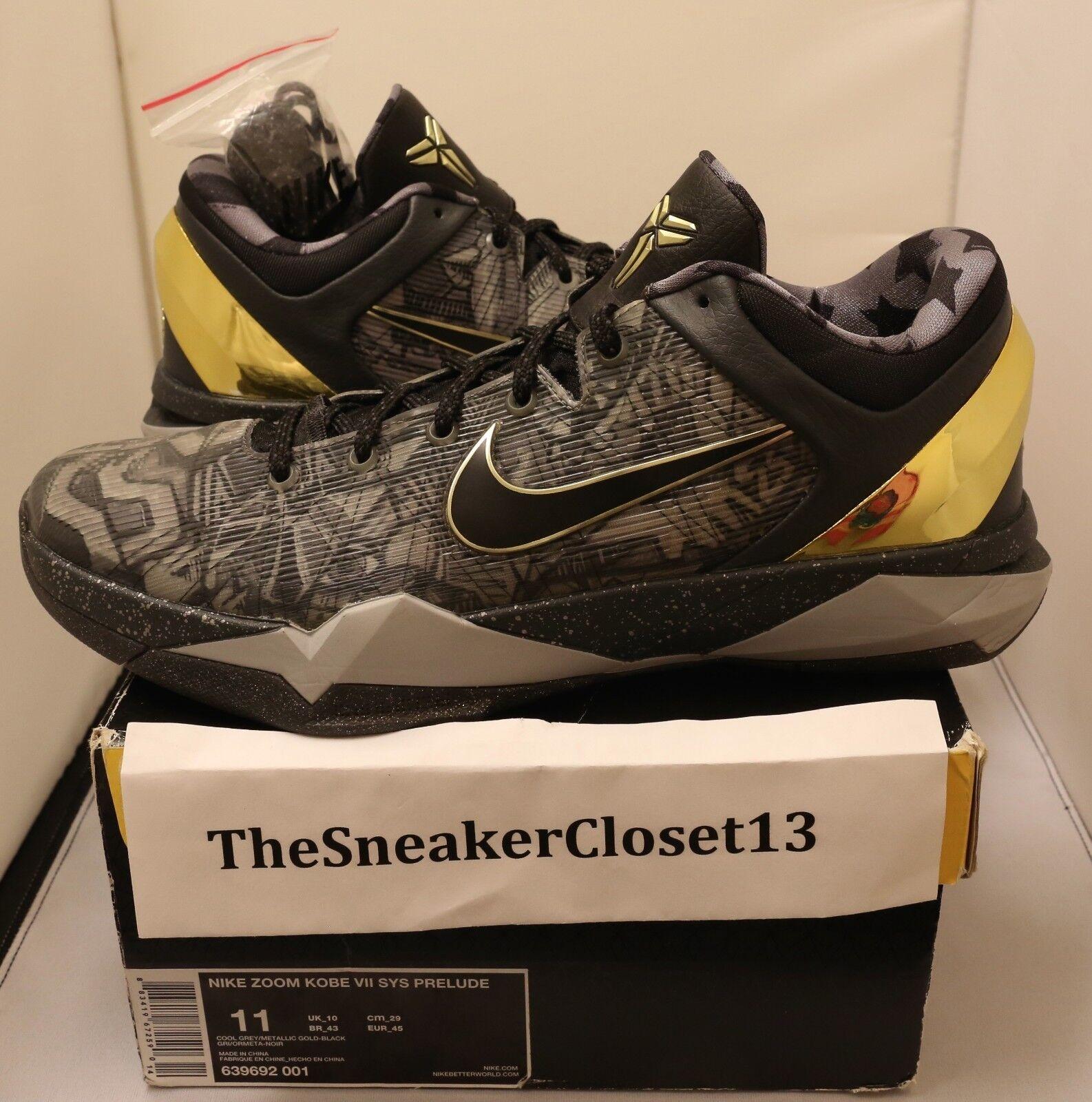 Nike Kobe VII 7 Prelude SZ 11 fade to black 8 9 10