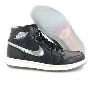 Nike-Air-Jordan-1-One-Retro-HI-All-Star-Passport-Black-850703-011-Men-039-s-11