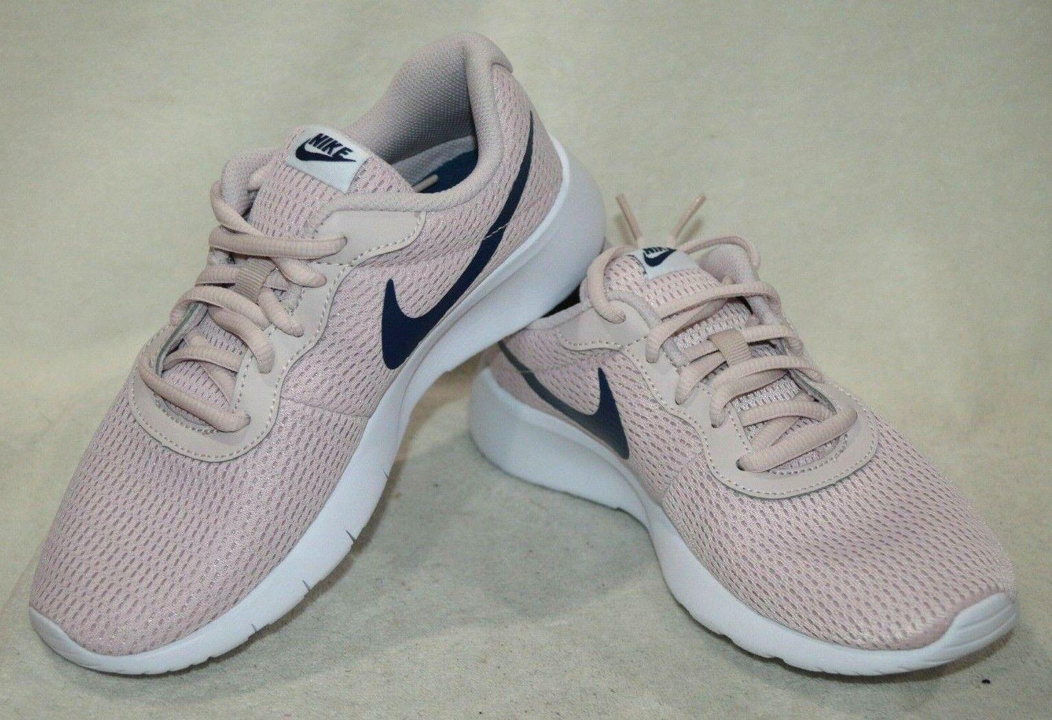 833363fbc6b9 Nike Tanjun Big Kids 818384-600 Barely Rose Pink Navy Athletic Shoes ...