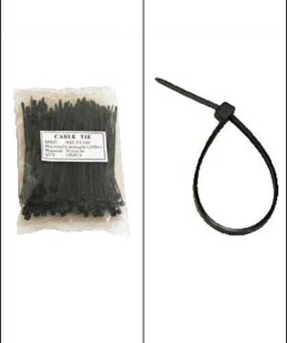"""500 Pack Lot Pcs Black 4/"""" Inch Wire Management Nylon Tie Cable Zip Ties 18 lbs"""