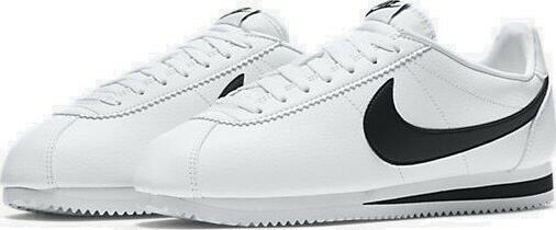 Nike Classic Cortez Leather Shoes Mens 10.5 White Black 749571 100