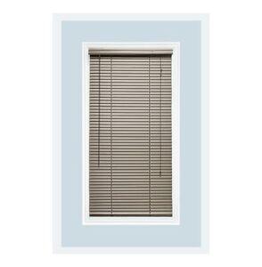 "Custom-Made 1"" Mini Aluminum Horizontal Window Blind-Inside Mount-Brushed Silver"