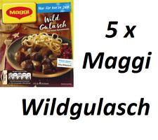 Maggi Fix & Frisch 5xWildgulasch  Wild Gulasch Winter Edition Nur für kurze Zeit