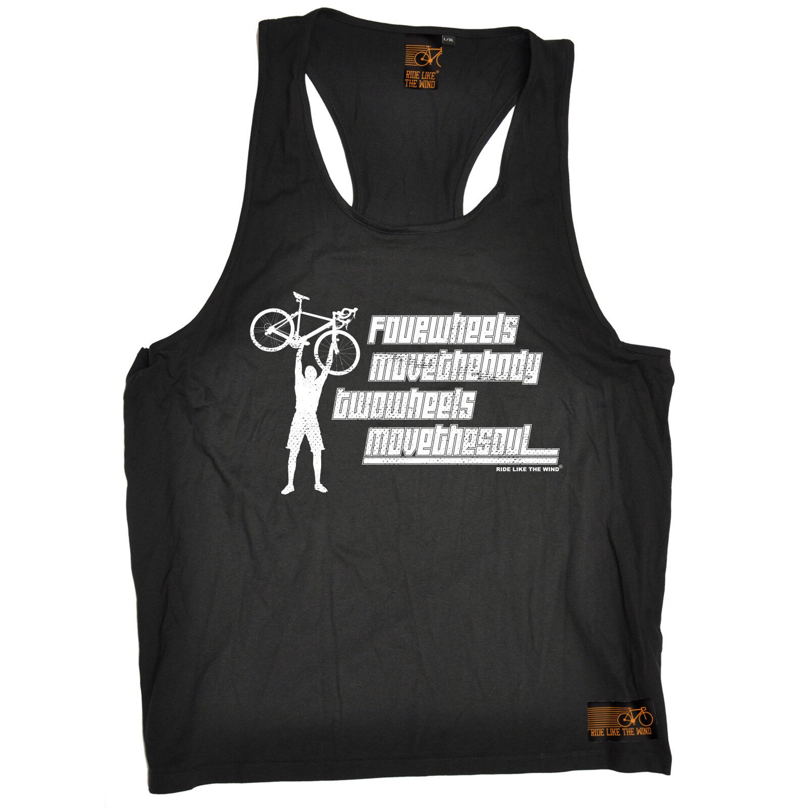 Two Wheels Move The Soul MENS SINGLET cycling funny birthday gift present him