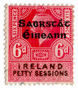 I-B-George-V-Revenue-Ireland-Petty-Sessions-6d-Free-State-OP