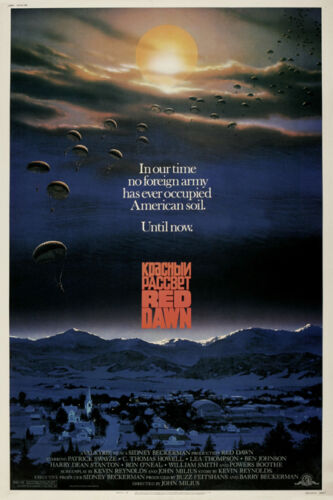 Red Dawn Patrick Swayze cult sci fi movie poster print