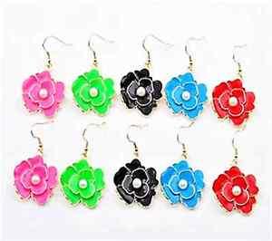 Lovely-daisy-plum-flower-earrings-50s-60s-retro-multiple-choices