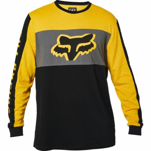 Fox Racing Pinned Mens Long Sleeve T-Shirt Yellow