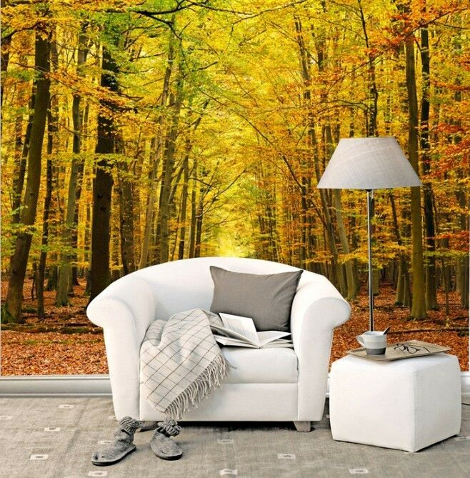3D Autumn Forest Photo 0008 Wall Paper Wall Print Decal Wall Deco AJ WALLPAPER