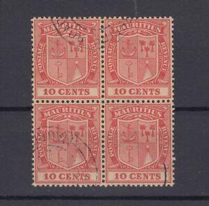 Mauritius-KGV-1926-10c-Block-Of-4-SG216-VFU-J7236