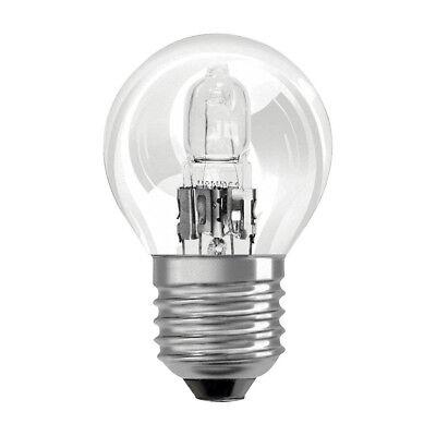 2 x Eco Halogen Glühbirne Tropfen 20W = 25W E14 Glühlampe klar warmweiß dimmbar
