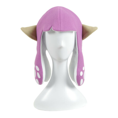 Splatoon 2 Inkling Squid Short Hat Party Balaclava Carniva Halloween Cosplay Wig