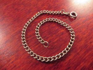 Schoenes-800-Silber-Armband-Gliederkette-Panzerkette-Fein-Unisex-Designer-Vintage