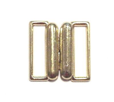 Bikiniverschluß Bikini Verschluß Metall Stegbreite 15 mm gold 1 Stück