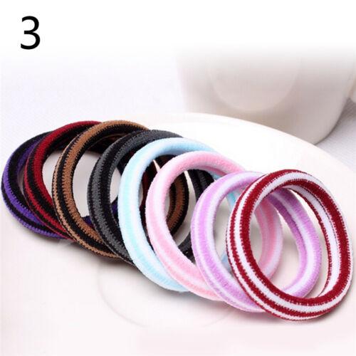 10pcs Frauen elastische Haargummis Band Ring Pferdeschwanz Inhaber Zubehör TI