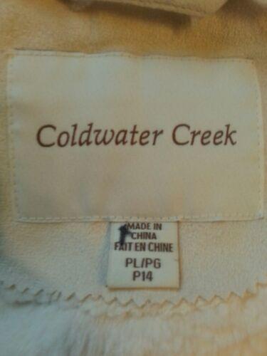 W Ladies Peak Faux Coat Pl Creek p14 Shearling Snow Sz Ny Coldwater Broderi EIwC8xqqR