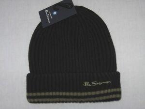 BNWT BEN SHERMAN Rib Knit Beanie Hat Black Medium 5054064480457  3857d1bf3f6
