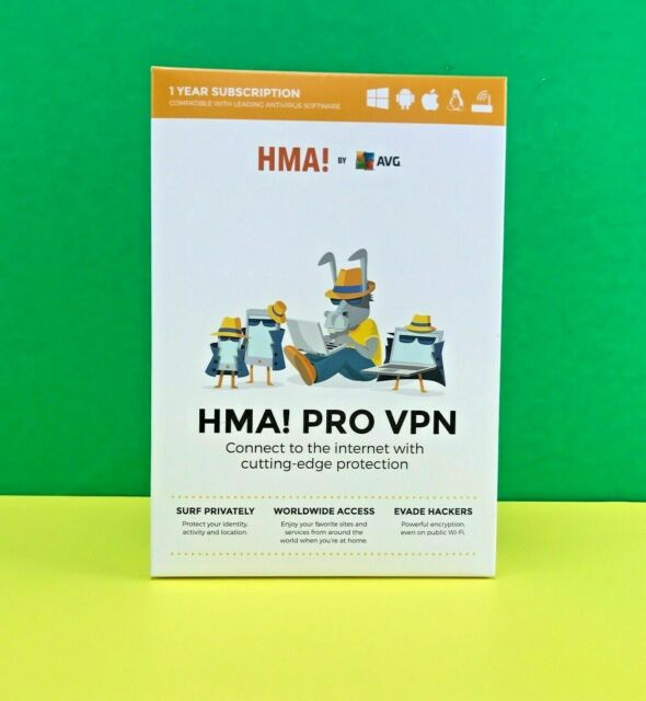 AVG HMA! PRO VPN Software 1 Year Subscription - for All Devices #7278