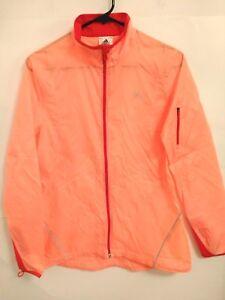 Tama delgada la cremallera de mujer naranja para roja transparente peque as lluvia completa o activa chaqueta Adidas con wASxrqF1w
