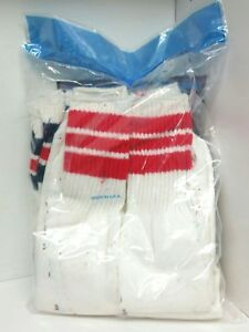 6-packs-Vintage-striped-tube-Socks-Youth-Size-9-11-NIP-Made-In-USA