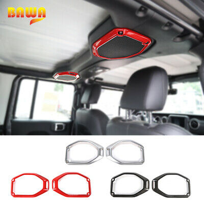 RT-TCZ Rear Door Lock Cover Interior Decoration Protection Buckle Trim Cover Sticker for For 2018-2019 Jeep Wrangler JL//JLU