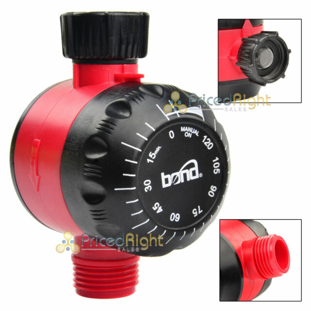 Mechanical Water Timer Lawn Garden Watering Hose Faucet 2 Hour Dial 120 Minutes