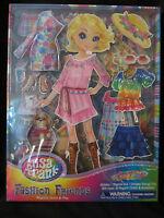 Nip Lisa Frank Fashion Friends Magnetic Dress & Play Doll Cassie Brand Pkge