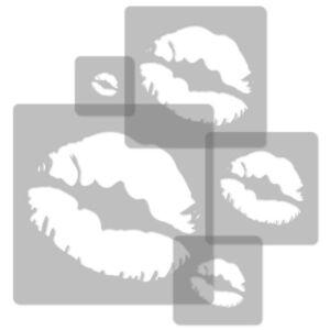 34x34cm To 9x9cm Straightforward 5x Reusable Plastic Stencils Nursery Kids Template // Lips
