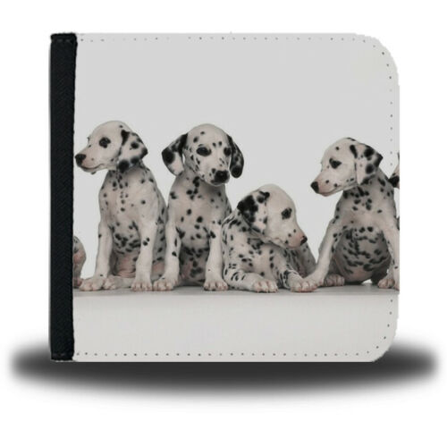 Dalmatian Leather Wallet Dog Dalmatians Spots Pattern Dogs Cute 101 Print 290