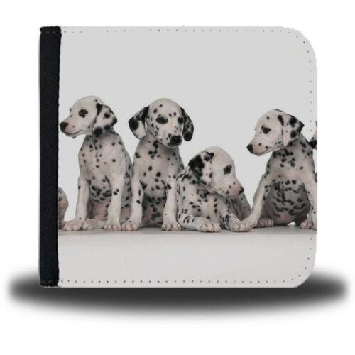 Dalmatian Leather Wallet Dog Dalmatians Spots Pattern Dogs Cute 101 Print 290