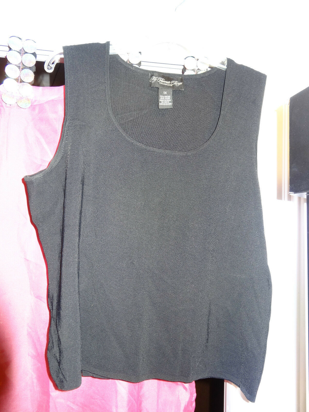 My Favorite Things Colleen Lopez schwarz Sleeveless Tank Top 1X NEW