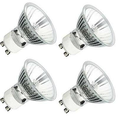 4 Bulbs New GU10 Base 50W MR16 120v Halogen Twist Lock Dimmable Glass Cover