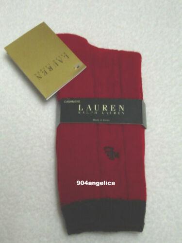 Ralph Lauren Ladies Cashmere Blend Crew Socks Red NWT