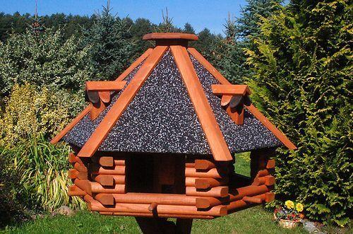 XXL Luxus Luxus Luxus Vogelhaus  mit oder ohne Ständer 70x45 cm Nr13s Dach mit Strukturputz | Lebhaft und liebenswert  | Zuverlässige Leistung  | Öffnen Sie das Interesse und die Innovation Ihres Kindes, aber auch die Unschuld von Kindern, kindlich, glücklich  1321cf