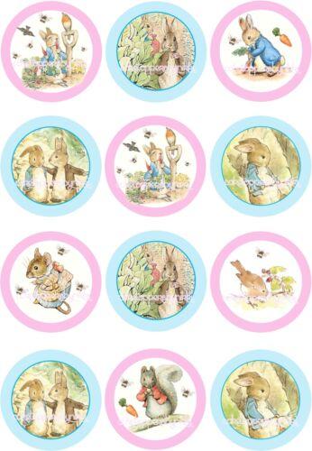 12 x 5cm populaire children/'s personnage comestible precut glaçage cupcake toppers